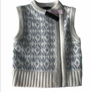 🇨🇦Banana Republic Italian Yarn Zip Up Vest